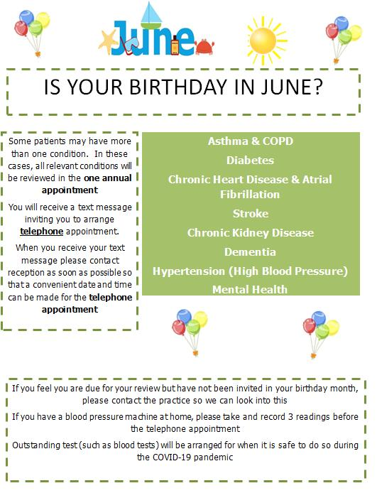 June Birthday Review Poster